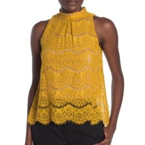 Beautiful Love Fire mustard trapeze blouse